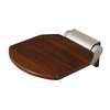 Barclay Dark Teak Wall Mount Shower Seat