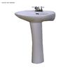 Barclay Devon 33.75-in H White Vitreous China Pedestal Sink