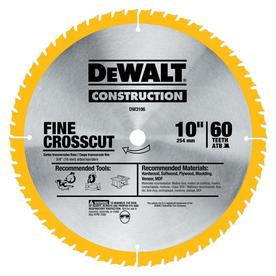 DEWALT 10-in 60-Tooth Standard Carbide Circular Saw Blade