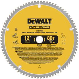 DEWALT Construction 12-in 80-Tooth Segmented Circular Saw Blade