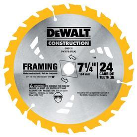 DEWALT Construction 7-1/4-in 24-Tooth Segmented Carbide Circular Saw Blade