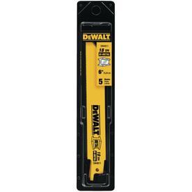 DEWALT 5-Pack 6-in 18-TPI Bi-Metal Reciprocating Saw Blade Set