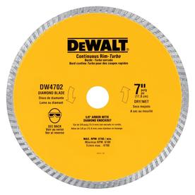 DEWALT 7-in Wet or Dry Continuous Diamond Circular Saw Blade