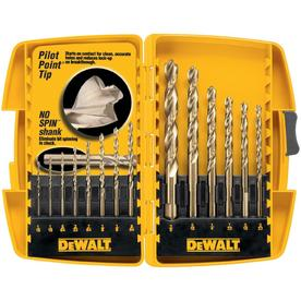 DEWALT 14-Pack Gold Ferrous Twist Drill Bit Set