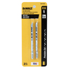 DEWALT 2-Pack 4-in T-Shank High-Carbon Steel Jigsaw Blades