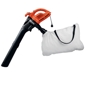 BLACK & DECKER 12-Amp 320-CFM 200-MPH Sweeper Corded Electric Leaf Blower with Vacuum Kit