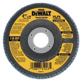DEWALT 36-Grit 4-1/2-in W x 4-1/2-in L High Performance Abrasive Sandpaper