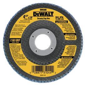 DEWALT 60-Grit 4.5-in W x 4.5-in L High Performance Abrasive Sandpaper