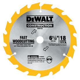 DEWALT Construction 6-1/2-in 18-Tooth Standard Carbide Circular Saw Blade