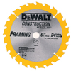 DEWALT Construction 6-1/2-in Segmented Carbide Circular Saw Blade