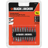 BLACK & DECKER 10-Piece Screwdriver Bit Set