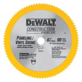 DEWALT Construction 6-1/2-in 90-Tooth Turbo Circular Saw Blade