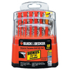BLACK & DECKER 18-Piece High-Speed Steel Metal Twist Drill Bit Set