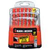 BLACK & DECKER 18-Pack High-Speed Steel Twist Drill Bit Set