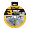 DEWALT 7-1/4-in 24-Tooth Circular Saw Blade Set