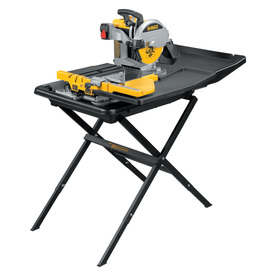 DEWALT 10-in 1.5-HP Wet Tile Saw with Stand