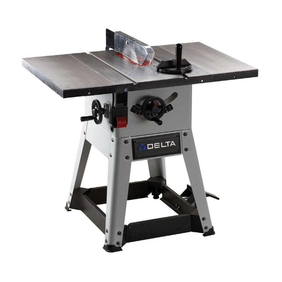 Shop delta 10 left tilt contractor table saw at for Table saw lowes