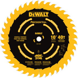DEWALT Precision Trim 10-in 40-Tooth Circular Saw Blade