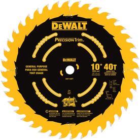 DEWALT Precision Trim 10-in 40-Tooth Segmented Carbide Circular Saw Blade