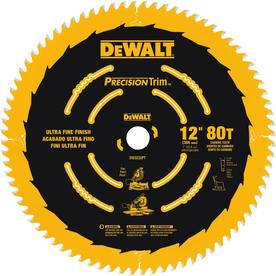 DEWALT Precision Trim 12-in 80-Tooth Standard Carbide Circular Saw Blade