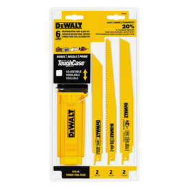 DEWALT 6-Pack Bi-Metal Reciprocating Saw Blade 6-Pack with Telescoping Case DW4896