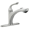 Waxman Stainless Steel 1-Handle Pull-Out Kitchen Faucet