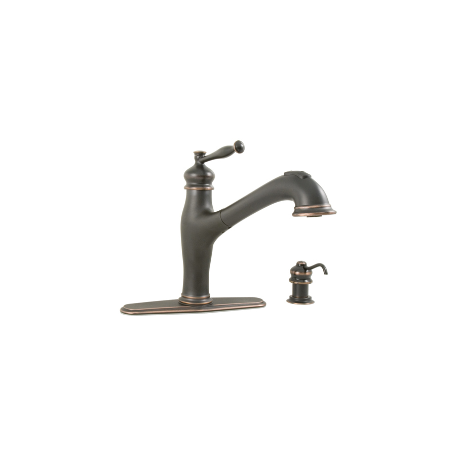 Shop AquaSource Oil-Rubbed Bronze Pull-Out Kitchen Faucet at Lowes.com