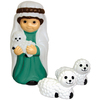 Holiday Time 2.33-ft Lighted Nativity Freestanding Sculpture Outdoor Christmas Decoration with White Incandescent Lights