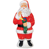 Holiday Time 3.31-ft Lighted Santa Freestanding Sculpture Outdoor Christmas Decoration with White Incandescent Lights