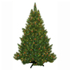 4.5-ft Pre-Lit Fir Artificial Christmas Tree with Multicolor Incandescent Lights