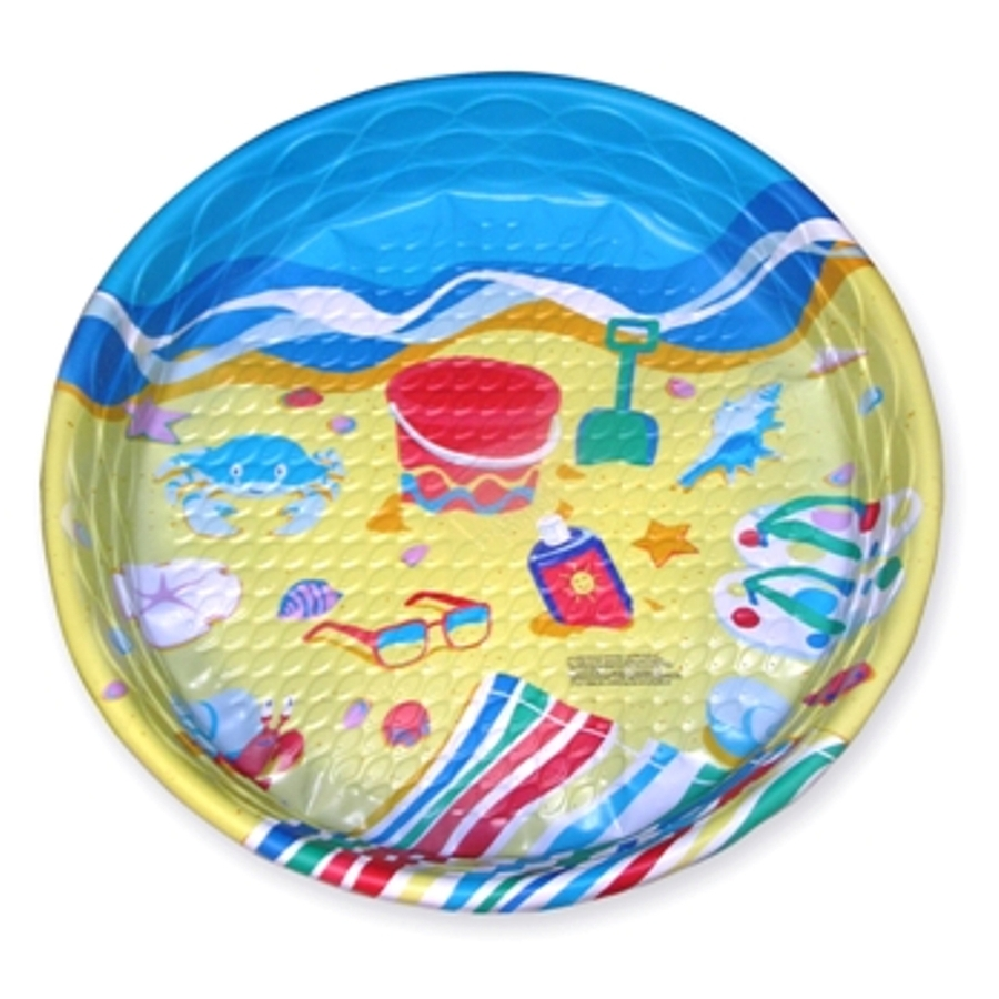 Shop splash time 59 in l x 59 in w blue polyethylene round for Plastik pool rund