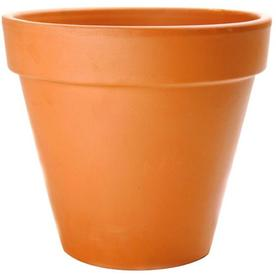 10.83-in H x 12.402-in W x 11.5-in D Terracotta Clay Outdoor Pot