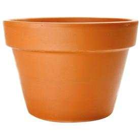  5-1/2-in H x 8-1/2-in W x 8-1/2-in D Clay Pot