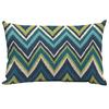 Garden Treasures Blue Flame Stitch Geometric Rectangular Lumbar Outdoor Decorative Pillow