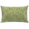 Garden Treasures Green Stencil Paisley Rectangular Lumbar Outdoor Decorative Pillow