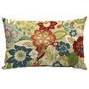 Garden Treasures Bloomery Floral Rectangular Lumbar Outdoor Decorative Pillow