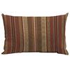 allen + roth Chili Stripe Rectangular Lumbar Outdoor Decorative Pillow
