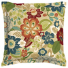 Garden Treasures Bloomery Floral Square Throw Outdoor Decorative Pillow