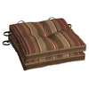 allen + roth Stripe Chili Seat Pad for Bistro Chair