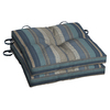 allen + roth Stripe Bluee Seat Pad for Bistro Chair