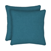 Garden Treasures 2-Pack Blue Flame Texture Solid Square Throw Outdoor Decorative Pillow