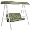 allen + roth Stripe Greene Cushion for Glider