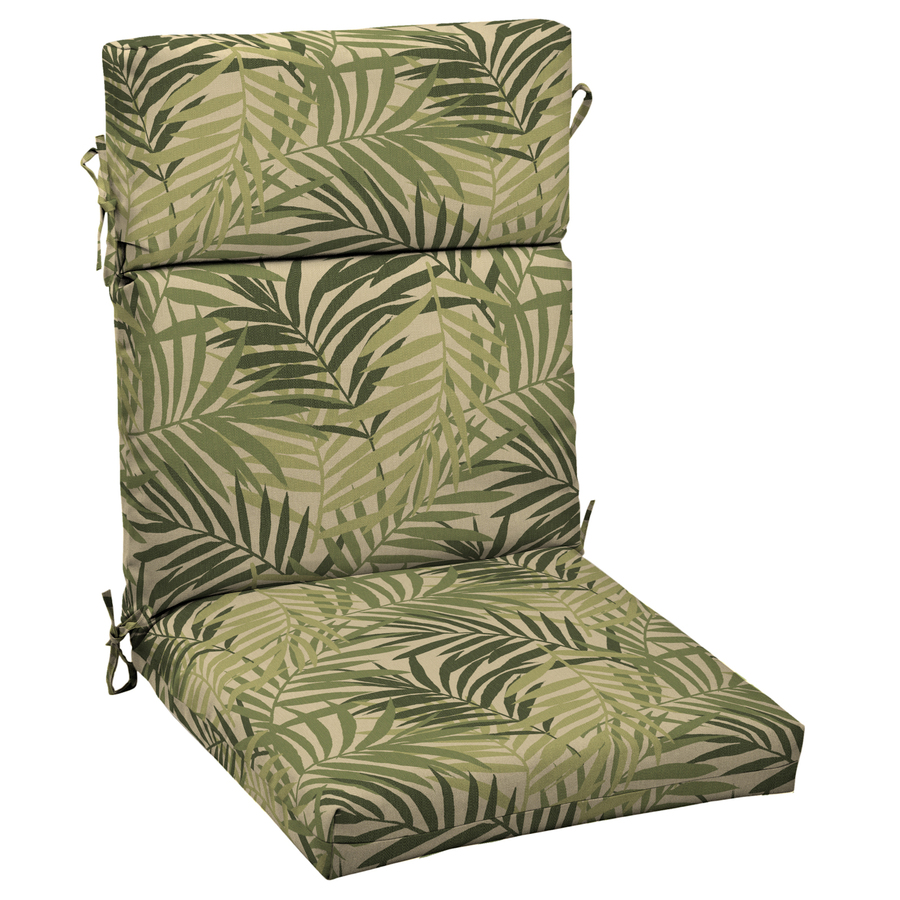 Treasures North Palm Leaf Standard Patio Chair Cushion at Lowes.com ...