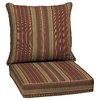 allen + roth Glenlee Stripe Chili Stripe Cushion for Deep Seat Chair
