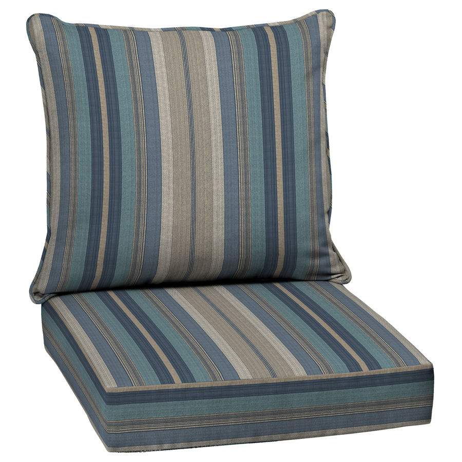 allen roth stripe blue deep seat patio chair cushion at