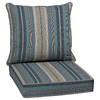 allen + roth Glenlee Stripe Blue Stripe Cushion for Deep Seat Chair