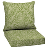 Garden Treasures Green Stencil Glenlee Green Stencil Floral Cushion For Deep Seat Chair