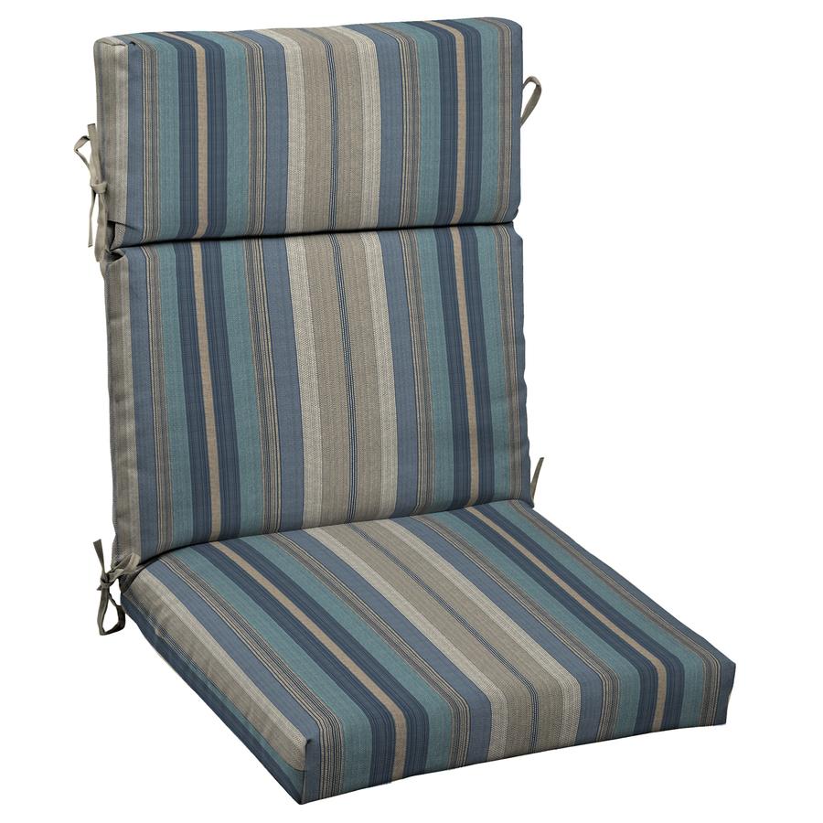shop allen roth stripe blue standard patio chair cushion at. Black Bedroom Furniture Sets. Home Design Ideas