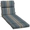 allen + roth Stripe Blue Cushion for Chaise Lounge