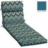 Garden Treasures Blue Flame Stitch Blue Flame Stitch Geometric Cushion For Chaise Lounge